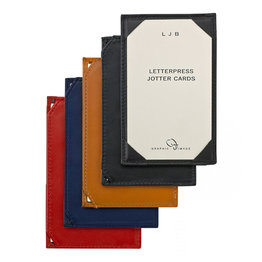 Graphic Image Graphic Image Traditional Leather Jotter for 3x5 Cards
