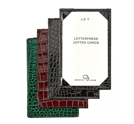 Graphic Image Graphic Image Crocodile Embossed Leather Jotters for 3x5 Cards