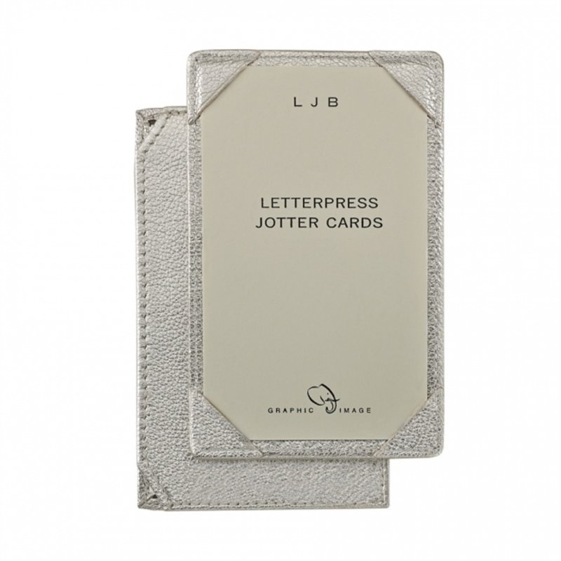 Graphic Image Graphic Image Metallic Goatskin Leather Jotter for 3x5 Cards