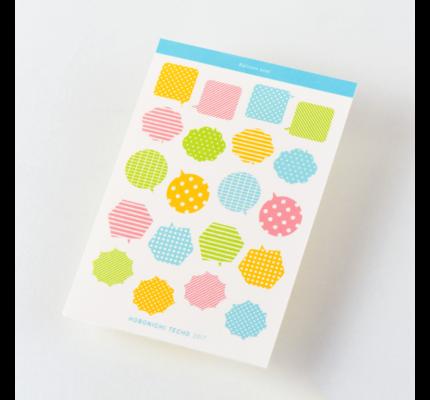 Hobonichi Hobonichi 2020 Sticker Set - Speech Bubbles