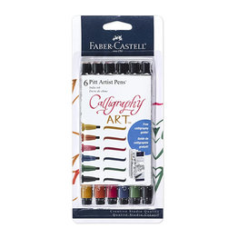 Faber-Castell Faber Castell Calligraphy Ary 6 Pitt Set