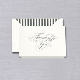 Vera Wang Black & White Thank You Note