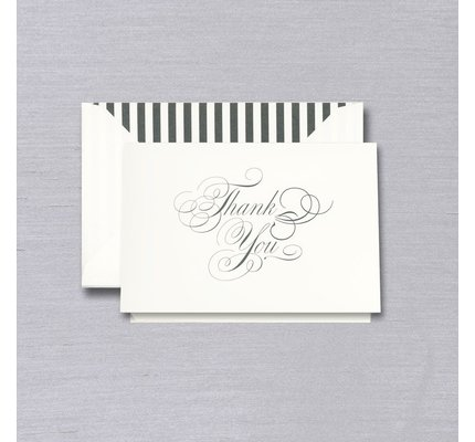 Vera Wang Vera Wang Black & White Thank You Note