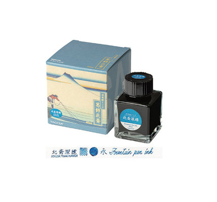 Taccia Taccia Hokusai-Fukakihanda (Light Blue) Bottled Ink
