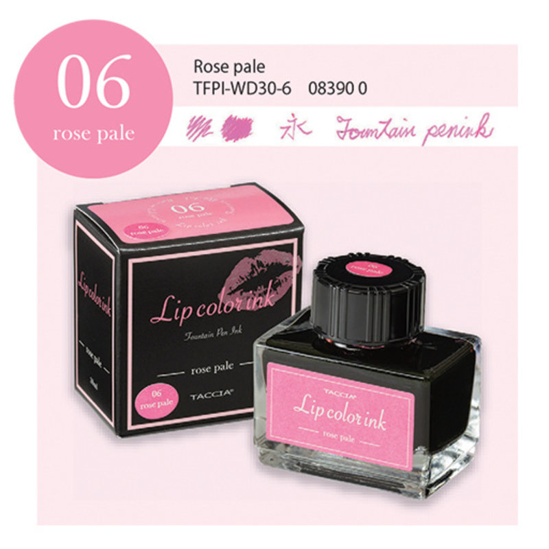 Taccia Taccia Lip Color #06 Fountain Pen Ink Rose Pale