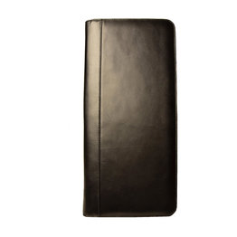 Aston Aston Leather Zippered 40 Slot Pen Case Black