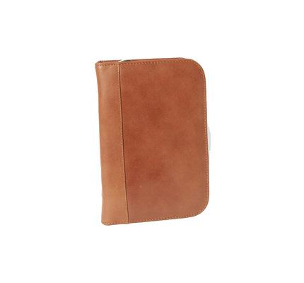Aston Leather Zippered 10 Slot Pen Case Cognac