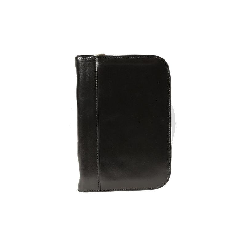 Aston Aston Leather Zippered 10 Slot Pen Case Black