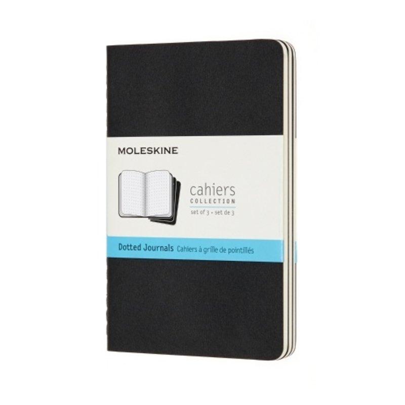 Moleskine Moleskine Cahier Pocket Soft Cover Black Dotted 3 Pack Journals