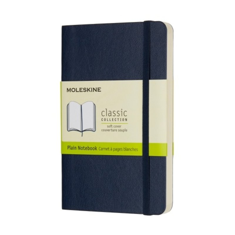 Moleskine Moleskine Classic Collection Pocket Soft Cover Blue Plain Notebook