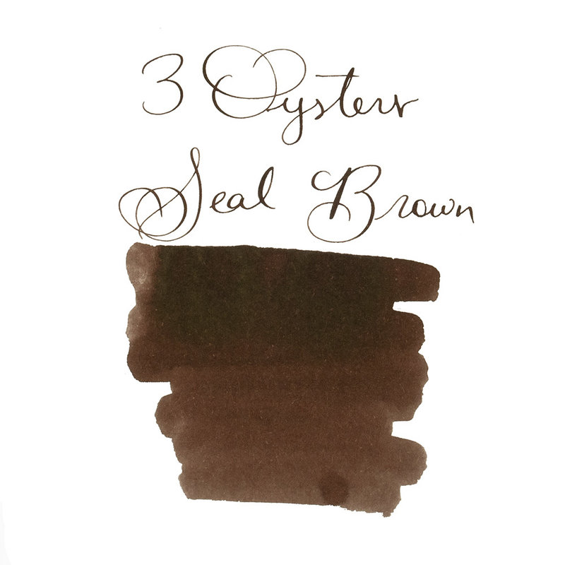3 Oysters 3 Oysters Delicious Seal Brown - 38ml Bottled Ink