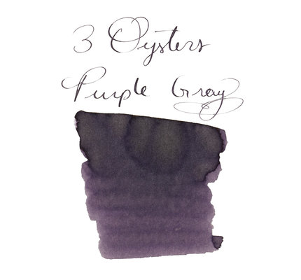 3 Oysters 3 Oysters Delicious Purple Gray - 38ml Bottled Ink