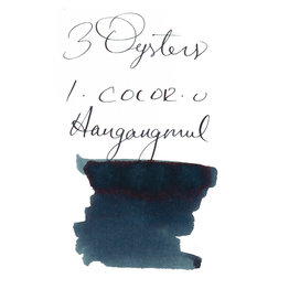 3 Oysters 3 Oysters I-Color-U Hangangmul Blue Black - 38ml Bottled Ink