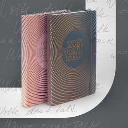 "Leuchtturm1917 Leuchtturm1917 ""Write, Don't Talk"" Medium Hardcover Notebook"