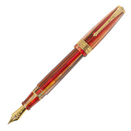 Conway Stewart Blood Orange Spaghetti Fountain Pen