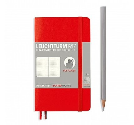 Leuchtturm1917 Leuchtturm1917 Pocket Softcover Notebook (A6) Red Dotted