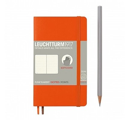 Leuchtturm1917 Leuchtturm1917 Pocket Softcover Notebook (A6) Orange Dotted