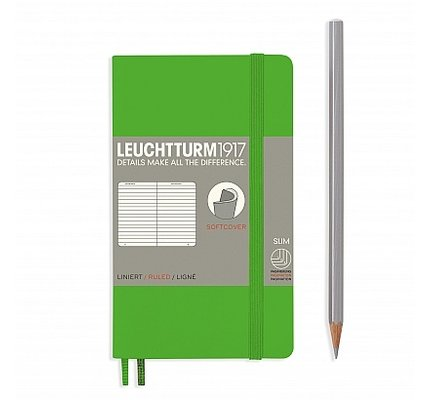 Leuchtturm1917 Leuchtturm1917 Pocket Softcover Notebook (A6) Fresh Green Plain