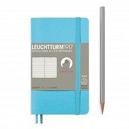 Leuchtturm1917 Leuchtturm1917 Pocket Softcover Notebook (A6) Ice Blue Ruled