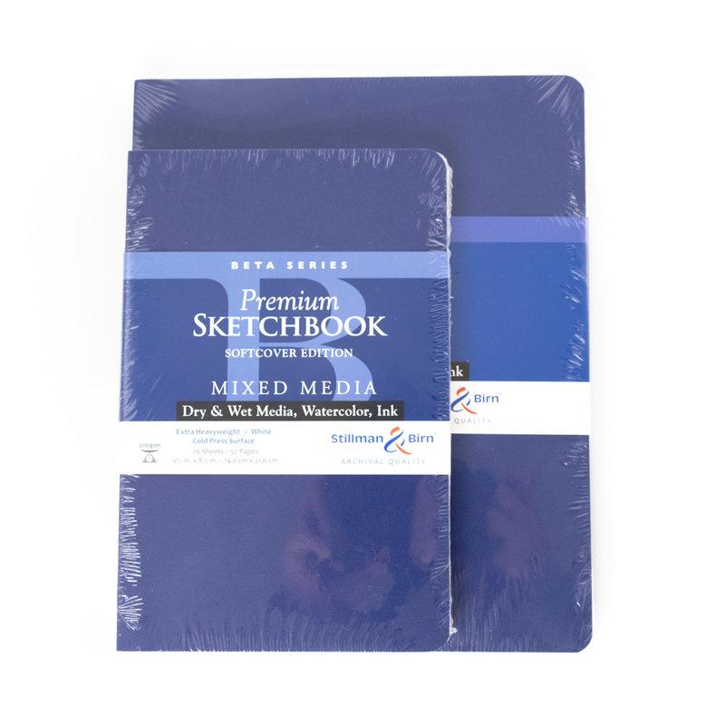 "Stillman & Birn Stillman & Birn Beta Series Softcover Sketchbook, 5.5"" x 8.5"""