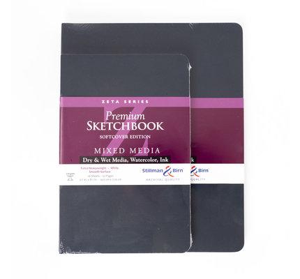 "Stillman & Birn Stillman & Birn Zeta Series Softcover Sketchbook, 8"" x 10"""
