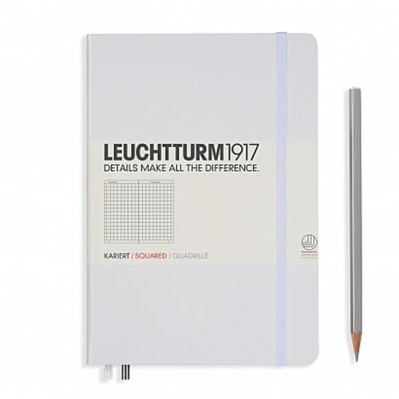 Leuchtturm1917 Leuchtturm1917 Medium Hardcover Notebook (A5) White Squared
