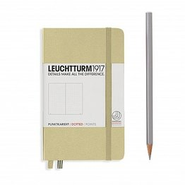Leuchtturm1917 Leuchtturm1917 Pocket Hardcover Notebook (A6) Sand Dotted