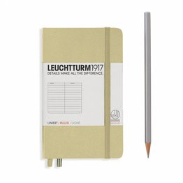 Leuchtturm1917 Leuchtturm1917 Pocket Hardcover Notebook (A6) Sand Ruled