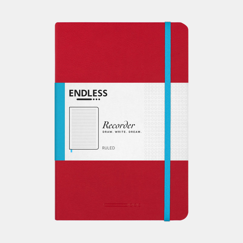 Endless Works Endless Works Recorder A5 Notebook - Crimson Sky