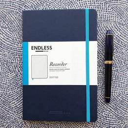 Endless Works Endless Works Recorder A5 Notebook - Deep Ocean