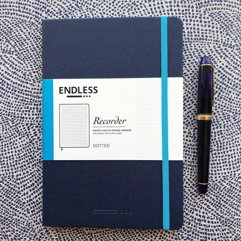 Endless Recorder Tomoe River A5 Notebook Infinite Space black - 192 Pages Squared