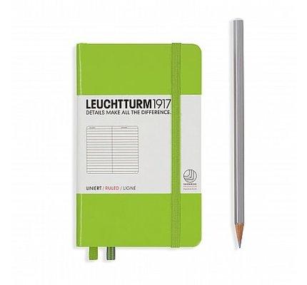 Leuchtturm1917 Leuchtturm1917 Pocket Hardcover Notebook (A6) Lime Ruled