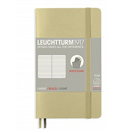 Leuchtturm1917 Leuchtturm1917 Pocket Softcover Notebook (A6) Sand Ruled