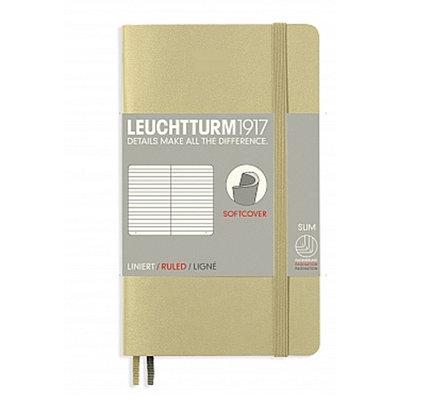 Leuchtturm1917 Leuchtturm1917 Pocket (A6) Softcover Notebook - Sand Ruled (Discontinued)