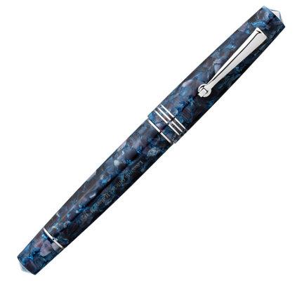 Leonardo Leonardo Momento Zero Fountain Pen Blue Sorrento Silver