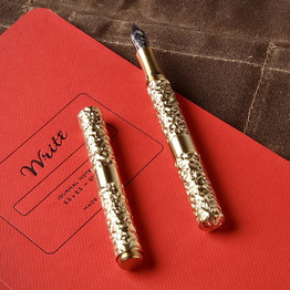 Schon DSGN Schon DSGN Pocket Six Fountain Pen Hammered  Brass