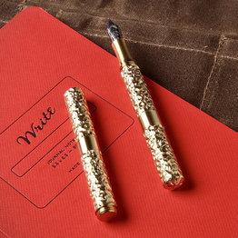 Schon DSGN Schon DSGN Pocket Six Hammered Brass Fountain Pen