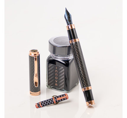 Monteverde Monteverde 20th Anniversary Innova Limited Edition Rose Gold Fountain Pen - With Free Ink and Pen Pin!