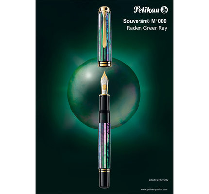 Pelikan Pelikan Souveran M1000 Raden Green Ray Fountain Pen