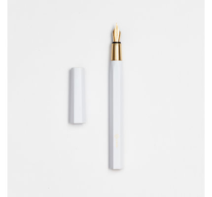 ystudio ystudio Resin White Fountain Pen