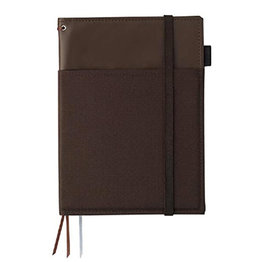 Kokuyo Kokuyo Systemic Refillable Brown A5 Leather Cover