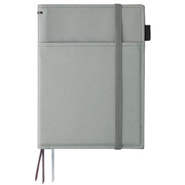 Kokuyo Kokuyo Systemic Refillable Gray A5 Leather Cover