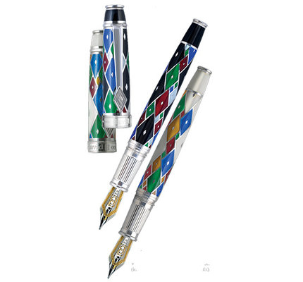 David Oscarson David Oscarson Harlequin Onyx Black Fountain Pen