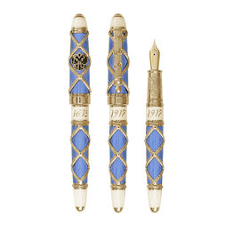 David Oscarson David Oscarson Russian Imperial Light Blue Fountain Pen