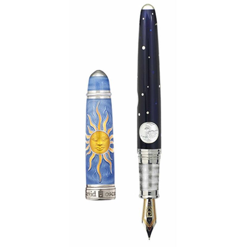 David Oscarson David Oscarson Celestial Blue Fountain Pen