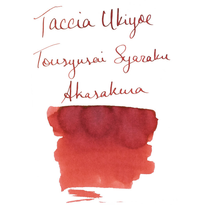 Taccia Taccia Ukiyo-e Sharaku-Akasakura (Red Cherry) Bottled Ink