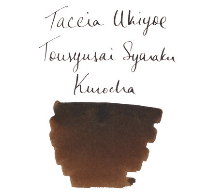 Taccia Taccia Ukiyo-e Sharaku-Kurocha (Dark Brown) Bottled Ink