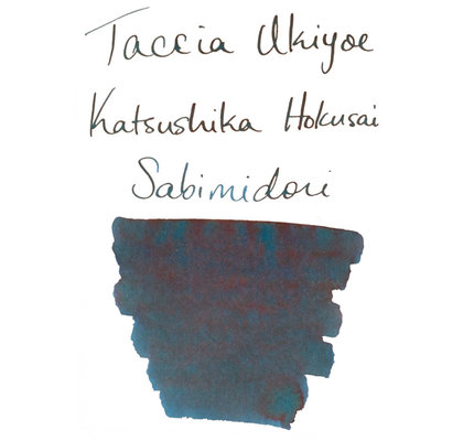 Taccia Taccia Ukiyo-e Hokusai-Sabimidori (Rust Green) Bottled Ink