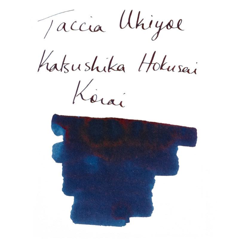 Taccia Taccia Ukiyo-e Hokusai-Koiai (Dark Indigo) Bottled Ink