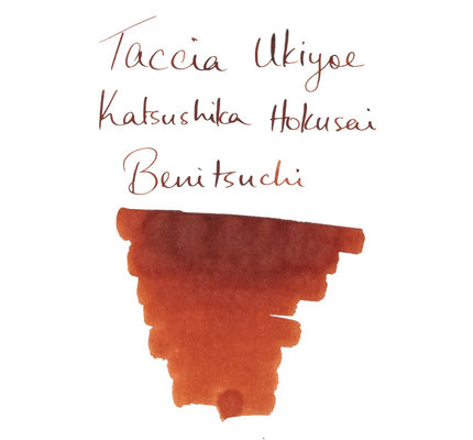 Taccia Taccia Ukiyo-e Hokusai-Benitsuchi (Red Soil) Bottled Ink